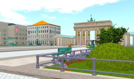 Brandeburger Tor in BERLIN in 3D in virtuelle online welt second life