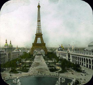 Paris Exposition: Champ de Mars and Eiffel Tower, Paris, France, 1900