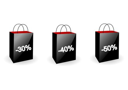 Red and black shopping bags