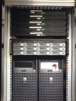 Webservers (top) and streamserver Moses and 2 old boxes | Source http: