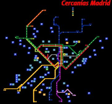 1 Map of Madrid suburban rail network (as of June 2009), with future e