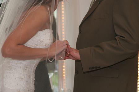 exchange of wedding ring bride groom