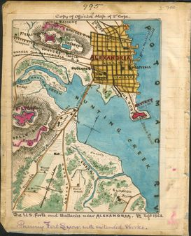 1 A map of Alexandria, Virginia, showing Forts Ellsworth, Source Lib