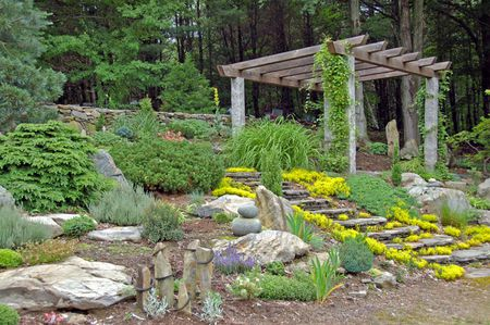1 The rock garden with pergola. | Source | Author Zipity11 | Date 20