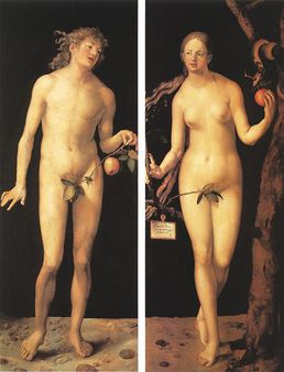 Adam and Eve by Albrecht Dürer (1507 )given by Christina of Sweden