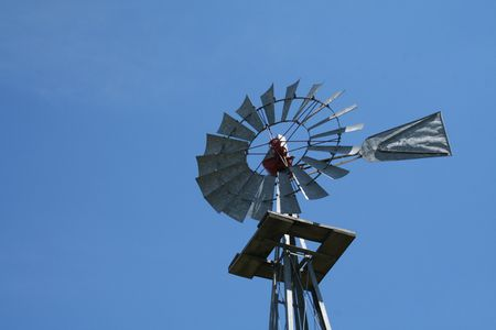 Galvanized Windmill