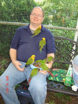 Me at Brightwood aviary 1