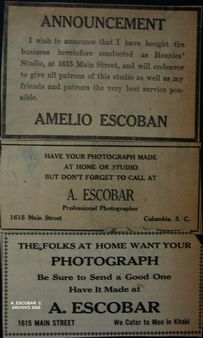 newspaper advertising, Lyles studio, 1915 | Source Aurelio Escobar Cas