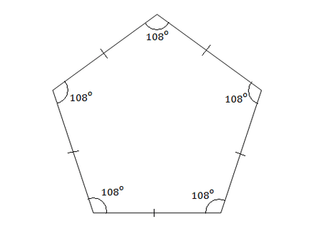 how to find a angle in a pentagon