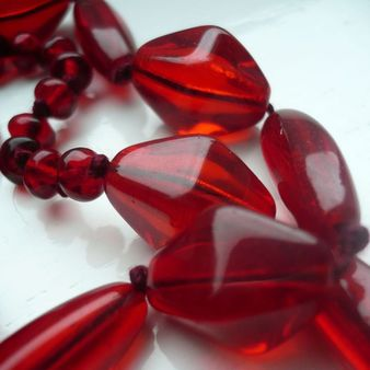 Red Czech Bead Necklace