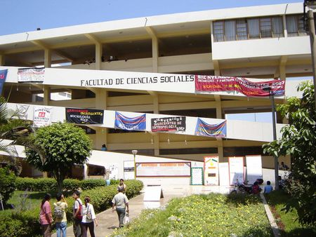 Front facade of the Faculty of Social Sciences building at the Nationa