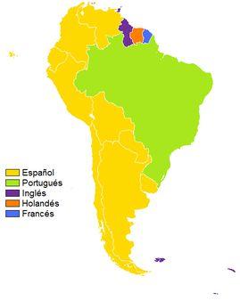 1 Languages of South America. 1 Idiomas de América del Sur.   Source