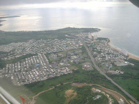 Aerial view of w:en:Luquillo, Puerto Rico . | Source Self-made during