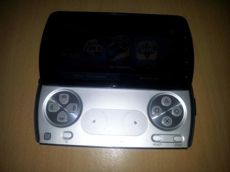 1 The Sony Ericsson Xperia Play gaming smartphone in the open position