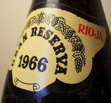 Monte Real Gran Reserva 1966 Rioja