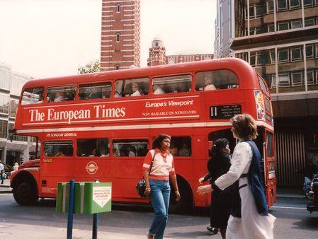 1 Roter Doppeldecker Bus London 1989 | Source | Author Stefanoka | Da