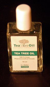 1 little bottle of Tea Tree Oil 1 lahvika Tea Tree Oil | Source self-m