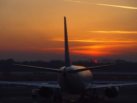 Sunrise at Malpensa airport