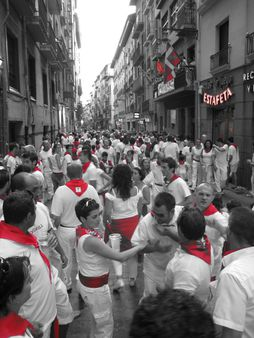 Reds at San Fermines, Pamplona | Source http://www. flickr. com/photos