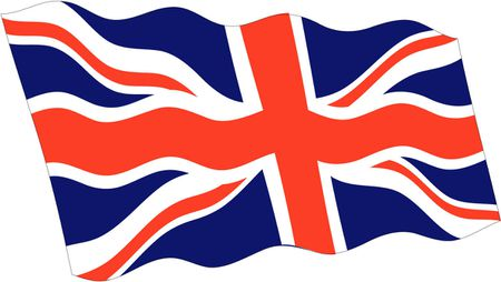 UK Wavy Vector Flag