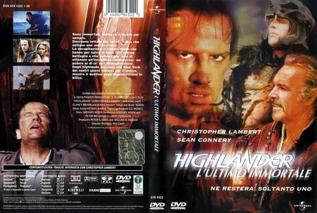 "copertina del DVD del film ""Highlander - l'ultimo immortale"""