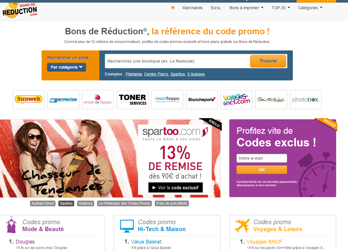 Coupons reduction internet