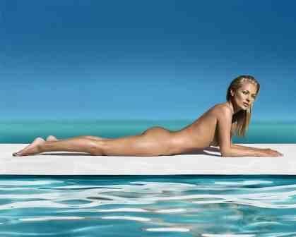 Kate Moss nude landscape