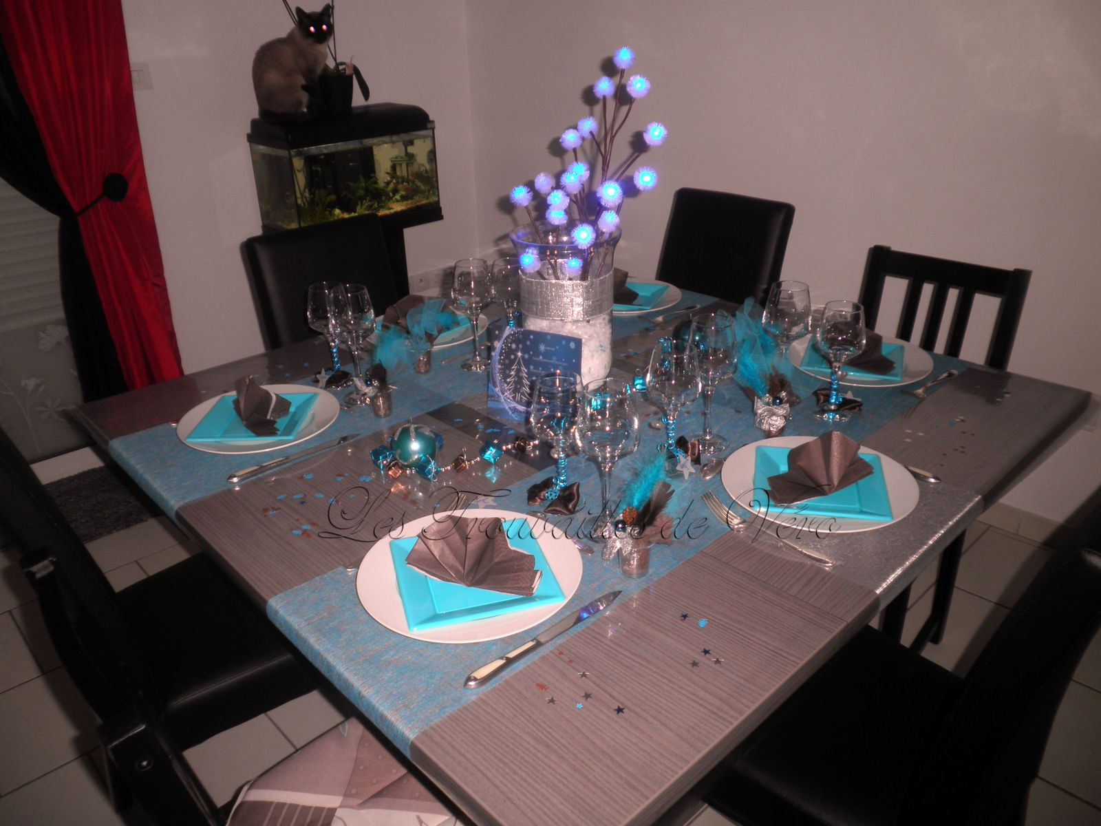Le plus efficace 6265 decoration de table pour noel bleu for Deco table noel bleu et blanc