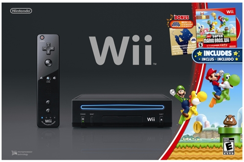 Wii Black e Super Mario Bros