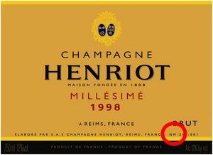 Exemple champagne