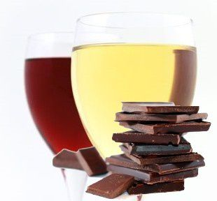 Servir vin chocolat