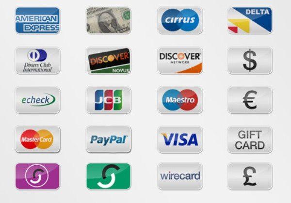 2-tarjetas-de-credito-y-PayPal-iconos