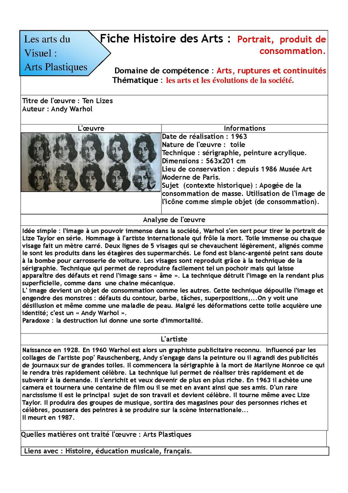 Jul 39 arts histoire des arts coll ge jules verne 1 avenue - Picasso nature morte a la chaise cannee ...