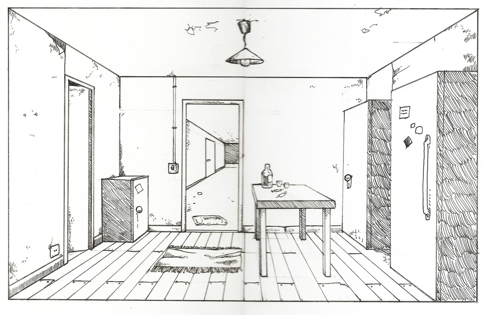 Perspective D 39 Une Chambre Dessin Gascity For