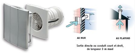 Acova air deco un extracteur d 39 air design lectricien for Extracteur humidite salle de bain
