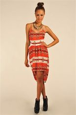 Lola cut out dress - red