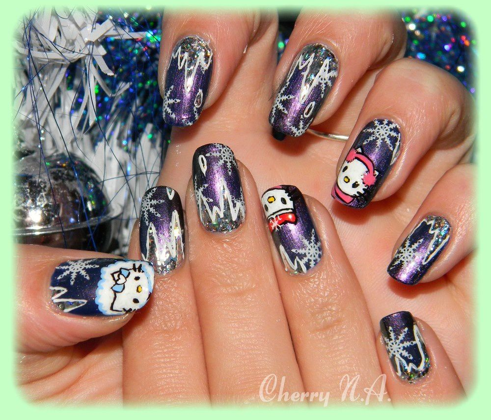 deco ongle hiver