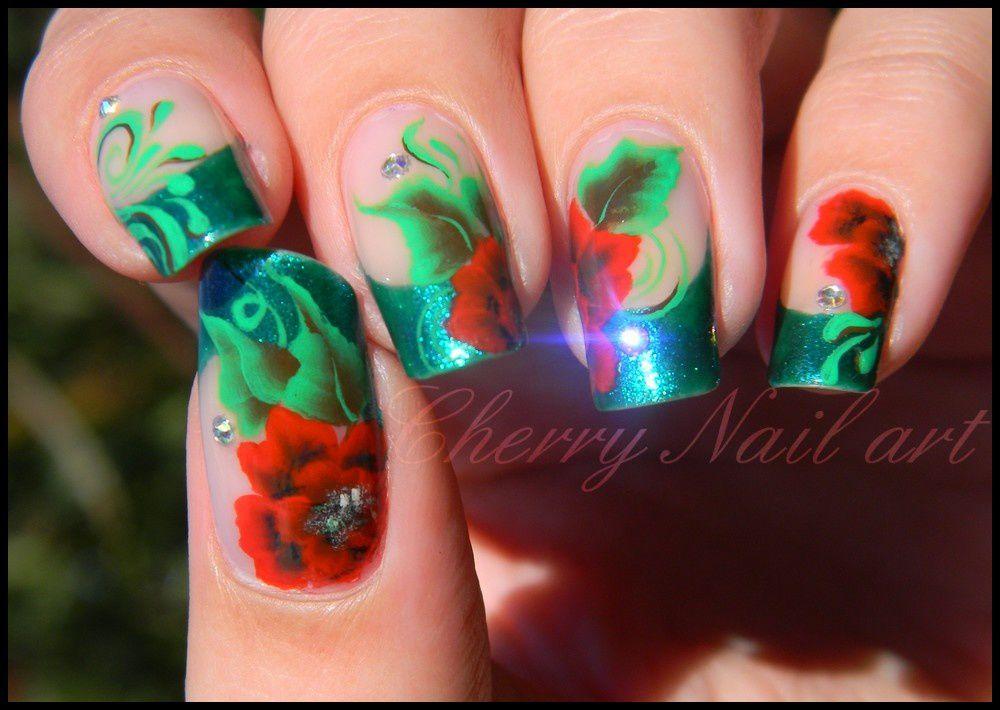 decoration sur vrai ongles