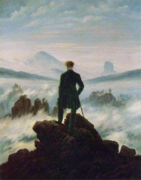 Friedrich caspar david Le Voyageur contemplant une mer de