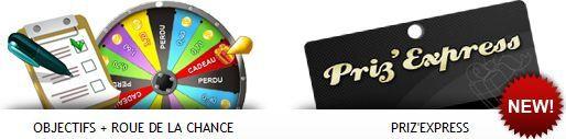 Gagner des cadeaux avec Prizee (Objectifs et Roue de la Chance ou Priz Express)