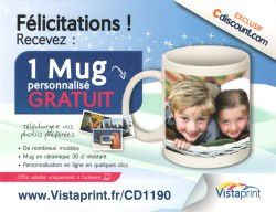 Vistaprint Mug photo personnalise gratuit