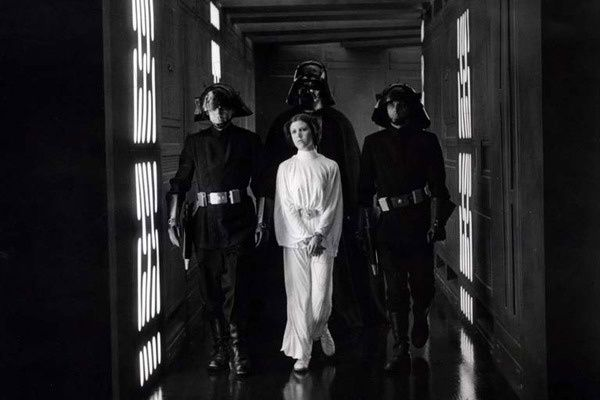 Carrie Fisher et David Prowse. Collection AlloCiné / www.collectionchristophel.fr