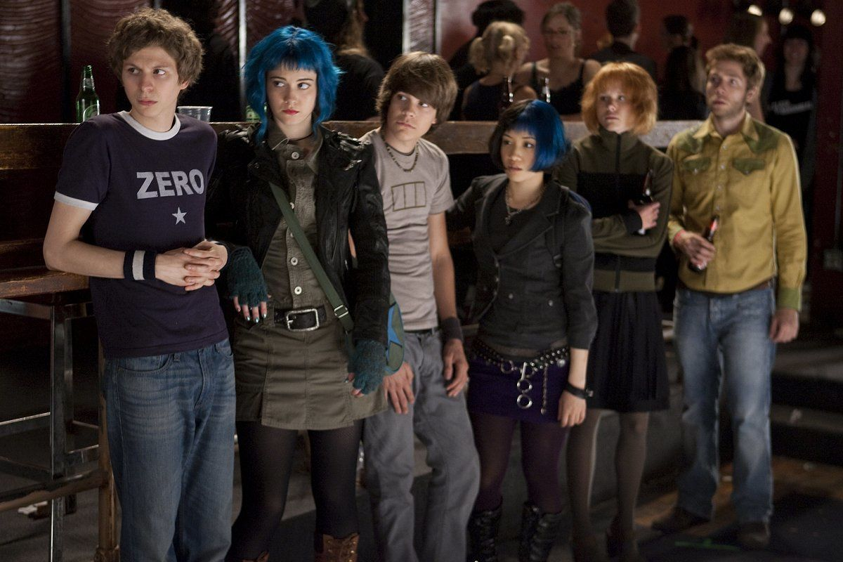 Michael Cera, Mary Elizabeth Winstead, Johnny Simmons et Ellen Wong. Universal Pictures International France