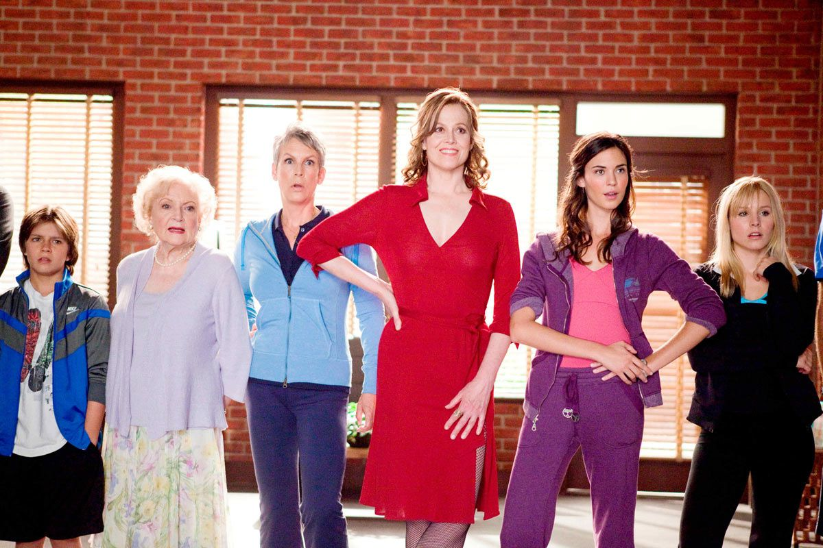 Betty White, Jamie Lee Curtis, Sigourney Weaver, Odette Yustman et Kristen Bell. Disney/Touchstone