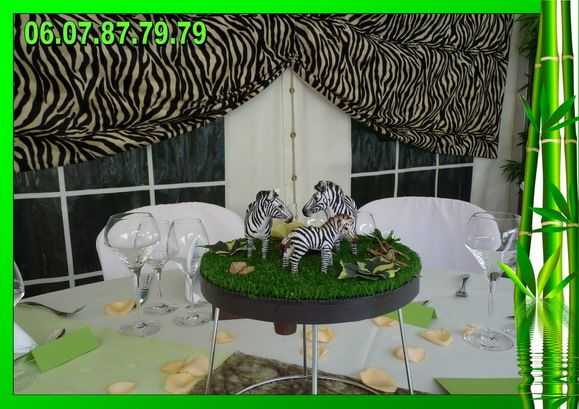 decoration mariage jungle id es et d 39 inspiration sur le mariage. Black Bedroom Furniture Sets. Home Design Ideas