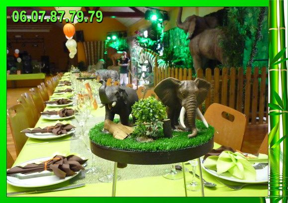 Location d co jungle pour bapt me le blog de location - Idee de deco pour bapteme ...