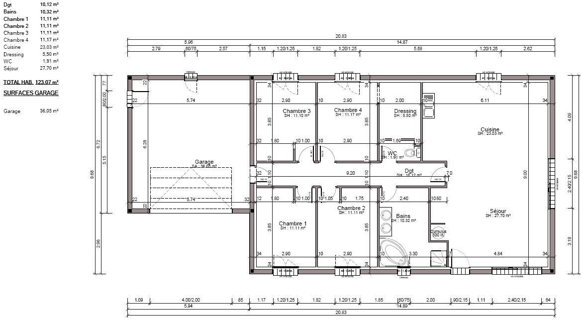 Plan De La Maison Le Lodge De Seysses