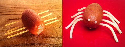 Saucisses Spaghettis Araignée
