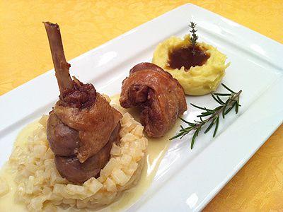 Cuisse de canard au c lerisotto et son jus aux fruits rouges la cuisine des jours - Comment cuisiner le canard entier ...