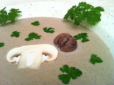 Soupe Crémeuse de Champignons et Châtaignes